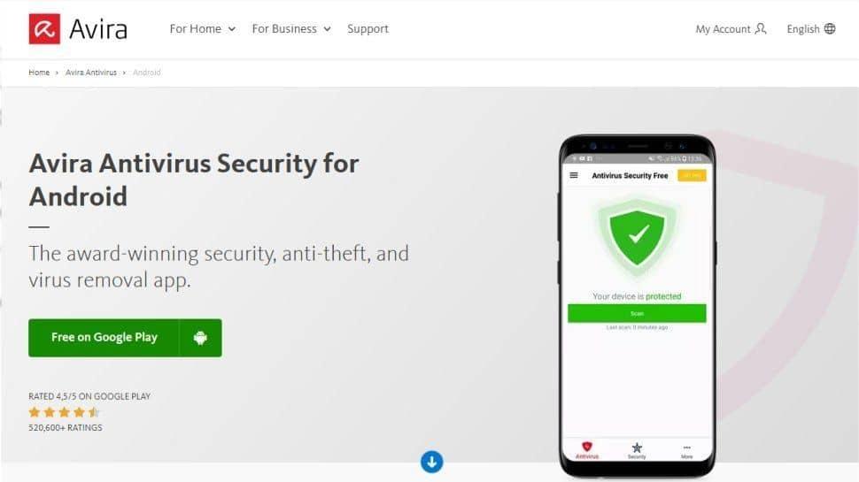 برنامج Avira Antivirus Security