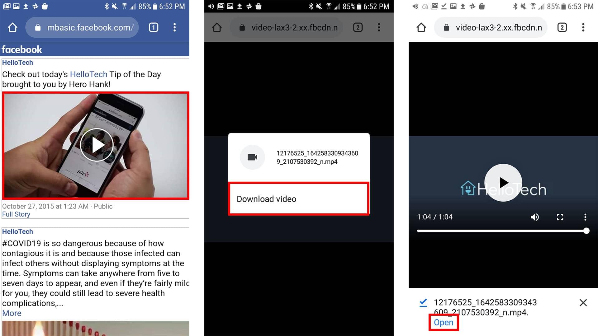 كيفية تنزيل فيديو من الفيس بوك للاندرويد بجودة عالية مجانا