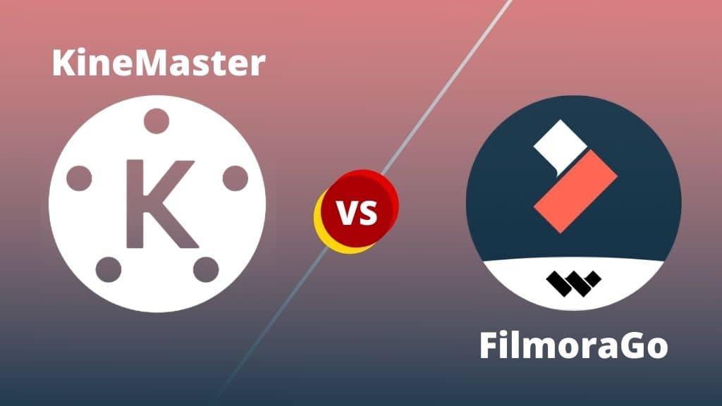 برنامج تعديل فيديوهات Kinemaster و FilmoraGo